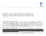 GS Small Cap Equity Insights Fund & GS Small Cap Growth Insights Fund - Attribution
