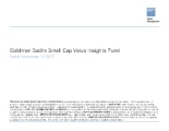 GS Small Cap Value Insights Fund - Attribution